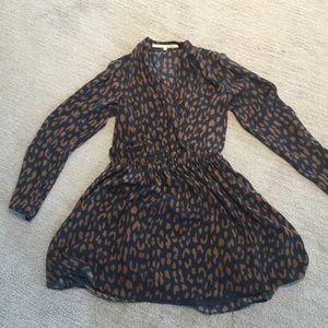 Navy/Brown mini dress